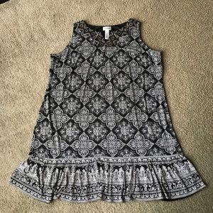 Catherines dress Sz 2X 22/24W embellished Black